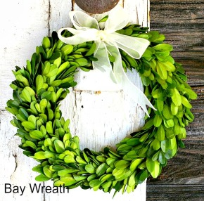 bay-wreath, ribbon, bay leaves, holiday, fall. eventandpartyideas.com