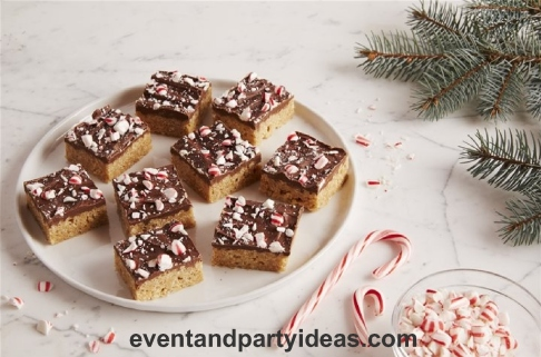 cookie-exhange, holiday party idea, chocolate Scotcheroos, cookie, christmas party. eventandpartyideas.com