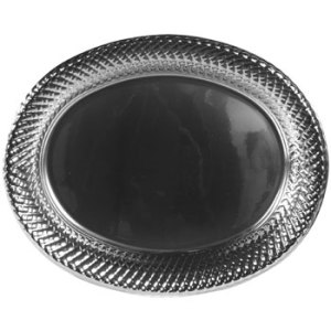 large-silver-plastic-oval-platters-with-decorative-edges, inexpensive party. eventandpartyideas.com