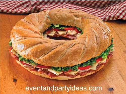 sandwich-2, party, event, meat, cheese, round shape. eventandpartyideas.com