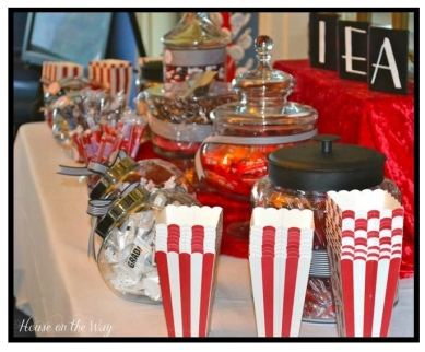 movie-food, candy, movie candy, movie night, movie party. eventandpartyideas.com