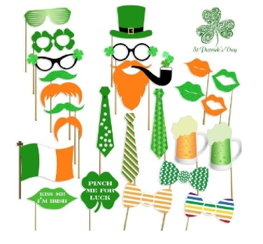 photo-props-2, st. patrick's day, photo, props, amazon. eventandpartyideas.com