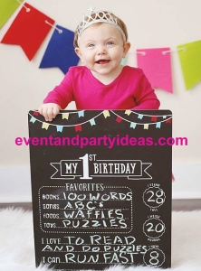 sign-2, blackboard, sign, birthday, 1st birthday, party. www.eventandpartyideas.com